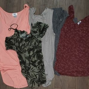 Old Navy 5 Top Lot